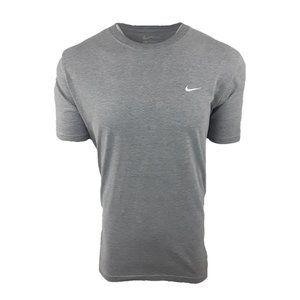 Nike Gray/White Embroidered Logo Tee T-Shirt Sz L